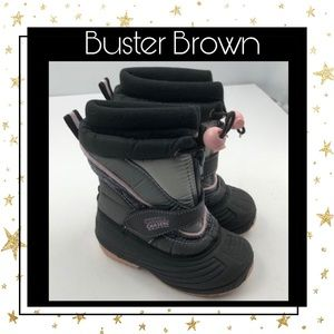 Buster Brown Chill Chasers Blk Pink Girl's Boots 7
